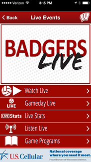 Badger Gameday App Live